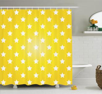 Vibrant Stars Fun Retro Shower Curtain