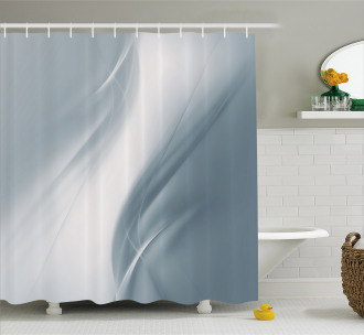 Monochromatic Abstract Shower Curtain