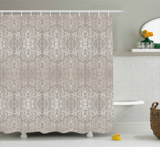 Paisley Victorian Pattern Shower Curtain