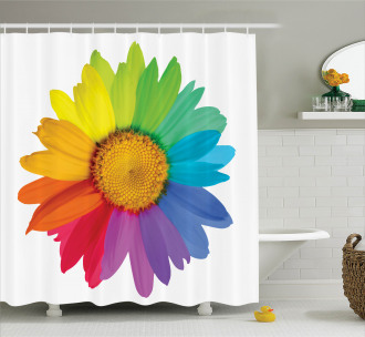 Hippie Daisy Spring Shower Curtain