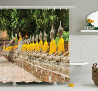 Religious Statues in Asia Shower Curtain