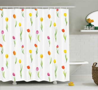 Country Tulips Shower Curtain