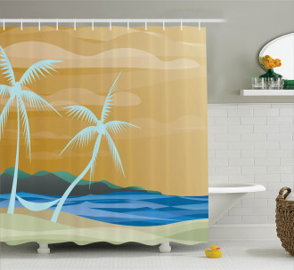 Sandy Exotic Beach Shower Curtain