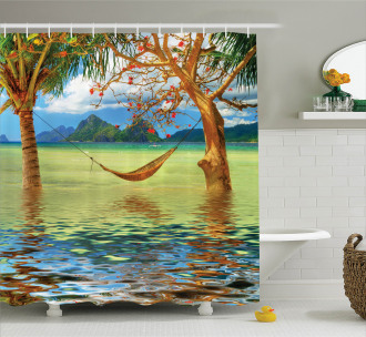 Trees in Tropical Land Shower Curtain