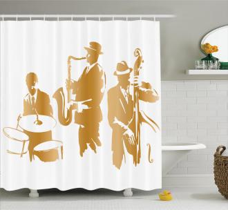 Jazz Band Blues Music Shower Curtain