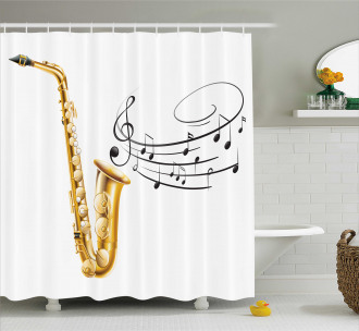 Template Solo Vibes Shower Curtain