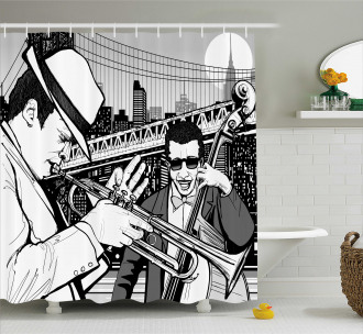Jazz Band in New York Shower Curtain