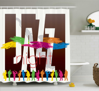 Jazz Performers Retro Shower Curtain