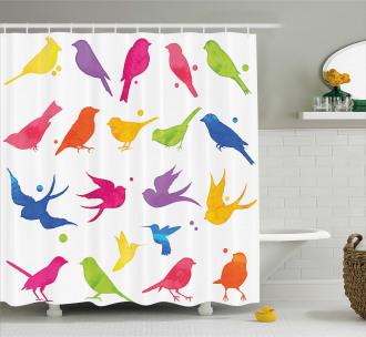 Flying Birds Friends Shower Curtain