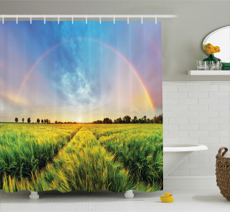 Wheat Field Nature Shower Curtain