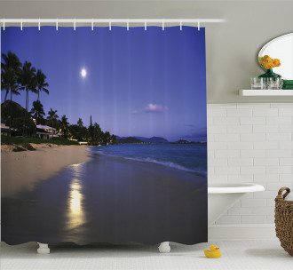 Moonlight Hawaii Sea Shower Curtain
