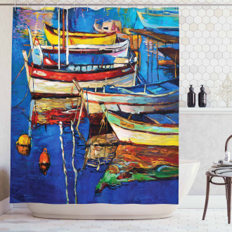 Shore at Warm Sunset Shower Curtain