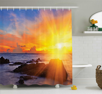 Colorful Sunset Sky Shower Curtain