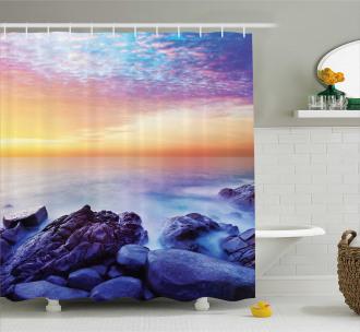 Morning Rainbow Colors Shower Curtain