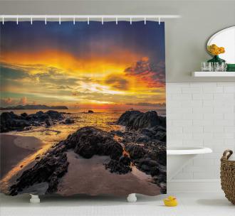 Majestic Sunrise Sky Shower Curtain