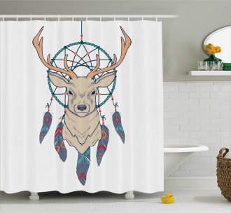 Ethnic Native American Shower Curtain