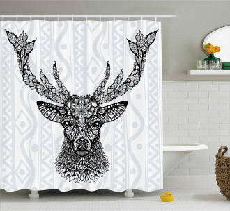 Bohem Ethnic Deer Shower Curtain