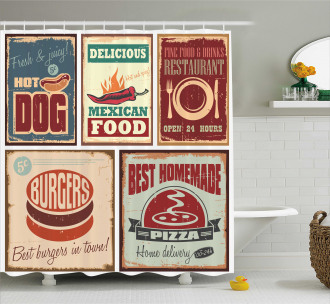 Retro Mexican Tin Sign Shower Curtain
