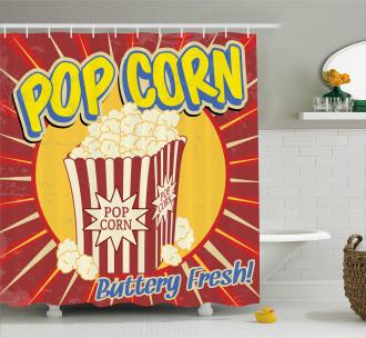Pop Corn Movie Snack Shower Curtain