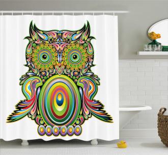 Ethnic Owl Legend Eye Shower Curtain