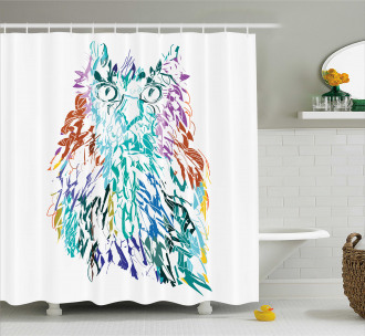 Feathers Eyes Vision Shower Curtain
