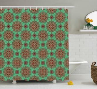 Asian Tribal Mandala Shower Curtain