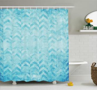 Geomeric Chevron Art Shower Curtain
