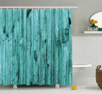 Antique Timber Texture Shower Curtain