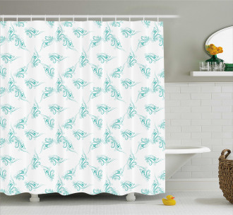 Swirling Branch Lines Shower Curtain