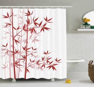 Bamboo Asian Nature Shower Curtain