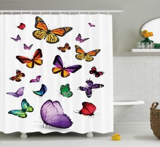 Flying Butterflies Shower Curtain