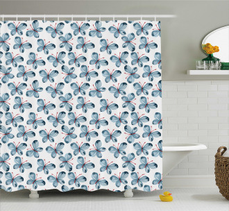 Floral Butterflies Shower Curtain