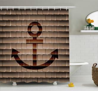 Marine Anchor Square Shower Curtain
