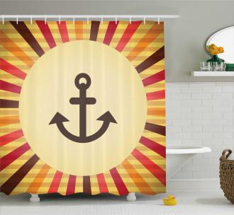 Pop Art Sailing Anchor Shower Curtain