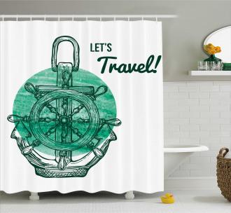 Water Vessel Oceanic Sea Shower Curtain