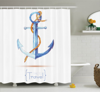 Classic Sail Rope Emblem Shower Curtain