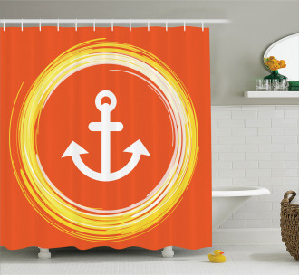 Anchor Image in Circle Shower Curtain