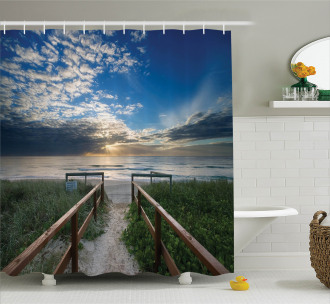 Pathway to Sea Swimming Shower Curtain