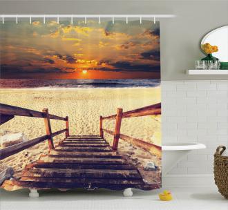 Romantic Sunset Skyline Shower Curtain