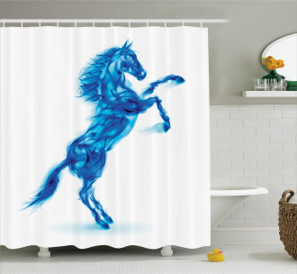 Fire House Blazing Shower Curtain