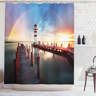 Clouds Sunset at Sea Shower Curtain