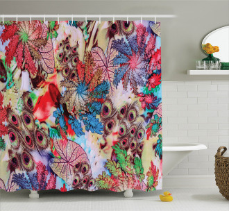 Peacock Feather Animal Shower Curtain
