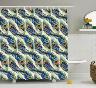 Ornamental Peacock Bird Shower Curtain