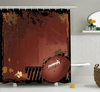 American Football Art Shower Curtain