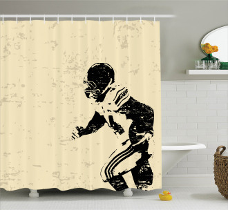 Rugby Player in Action Shower Curtain