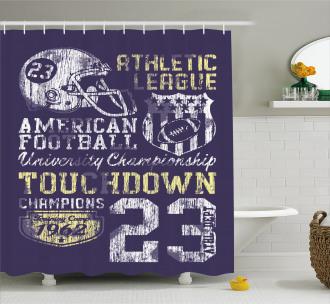 Retro American Football Shower Curtain