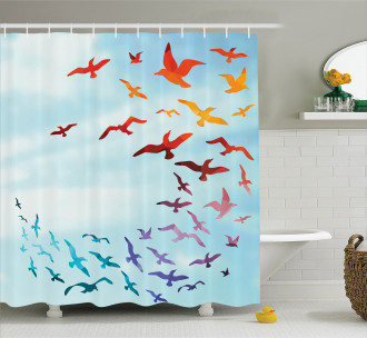 Flying Freedom Sky Art Shower Curtain