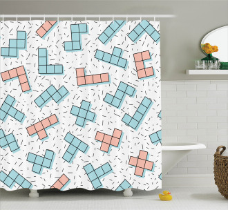 Retro Vintage Abstract Shower Curtain