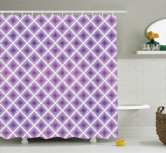 Retro Style Abstract Shower Curtain
