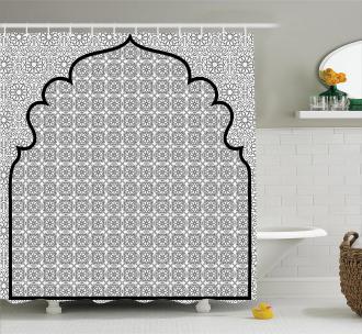 Turkish Ottoman Mosaic Shower Curtain